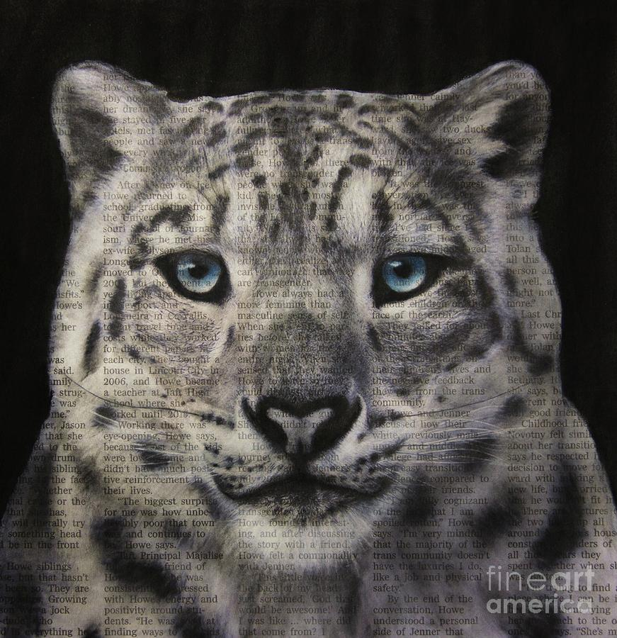 Art in the News 150- Snow Leopard by Michael Cross