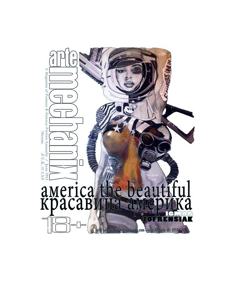 arteMECHANIX 1913 AMERICA THE BEAUTIFUL GRUNGE by Jody Bronson