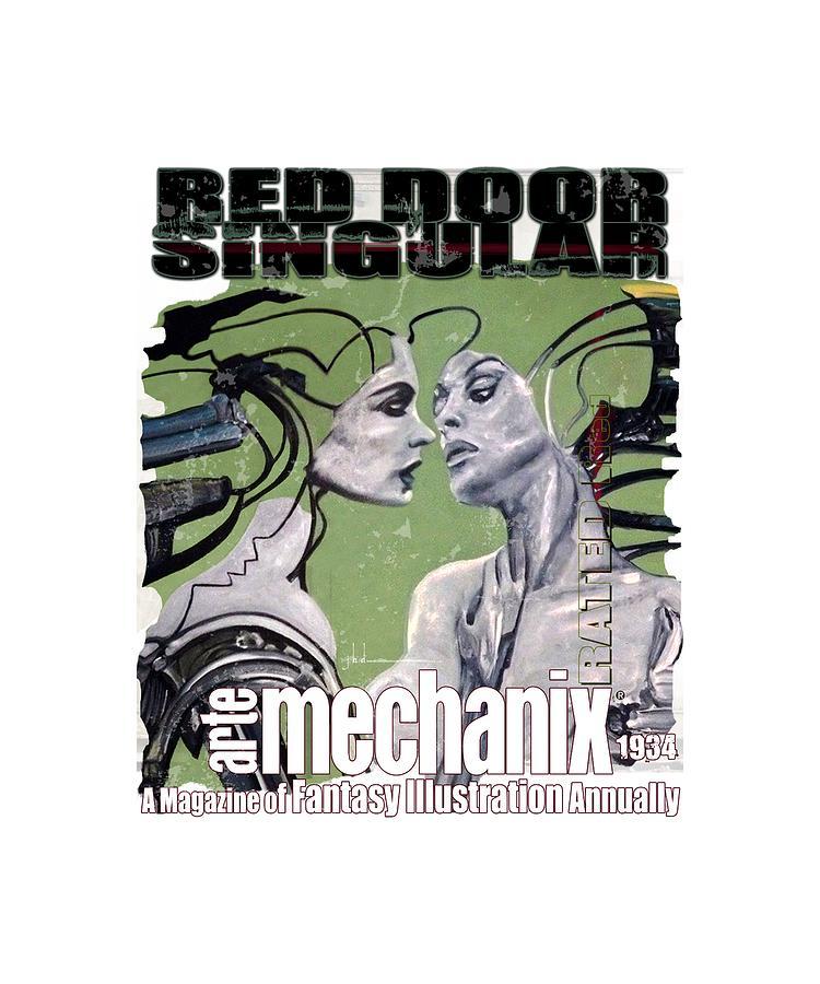 arteMECHANIX 1934 RED DOOR SINGULAR  GRUNGE by Jody Bronson