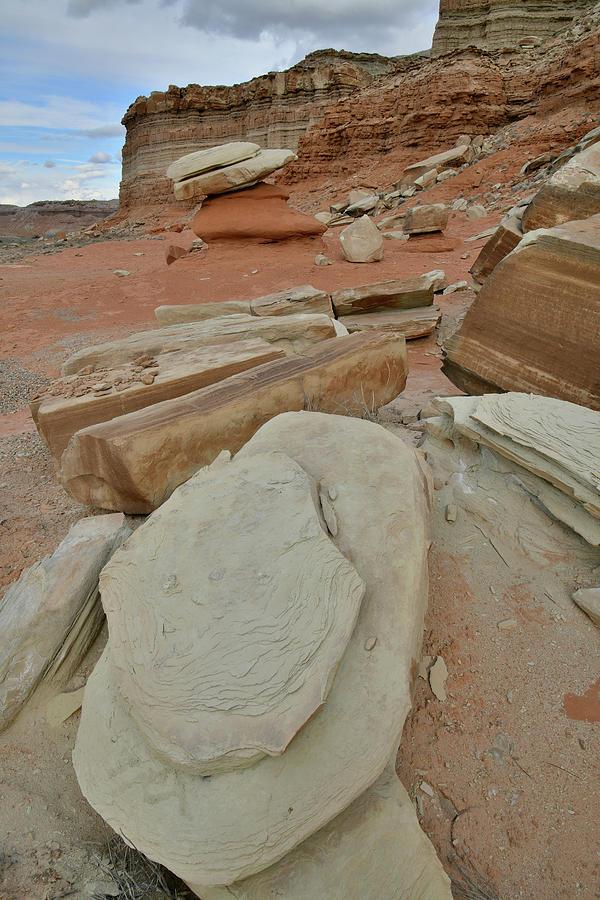 Artful Boulder Field in San Rafael Desert by Ray Mathis