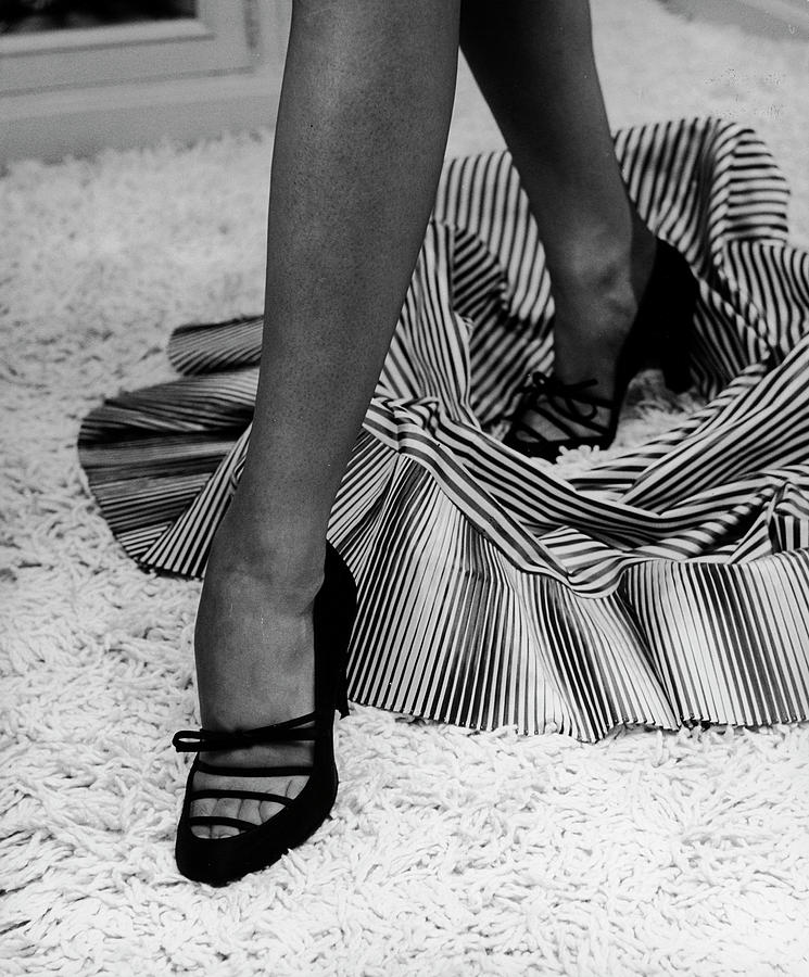Artful Shot Of Model Showing Off A Pair Photograph by Nina Leen