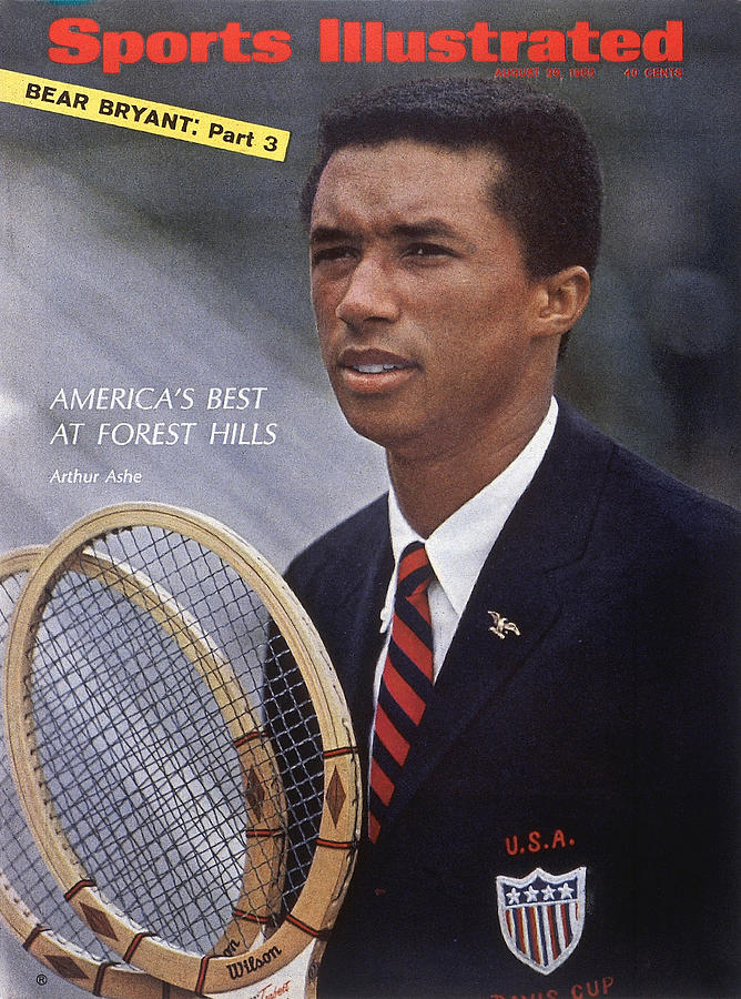 Arthur Ashe, Tennis Sports Illustrated Cover Photograph by Sports Illustrated