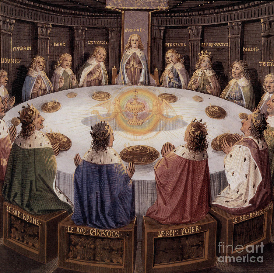 Knights Painting - Arthurian Legend, The Knights Of The Round Table by European School