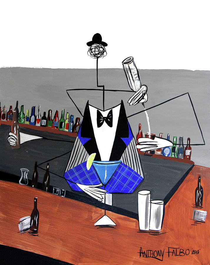Whimsical Photograph - Artificial Intelligence Bartender by Anthony Falbo