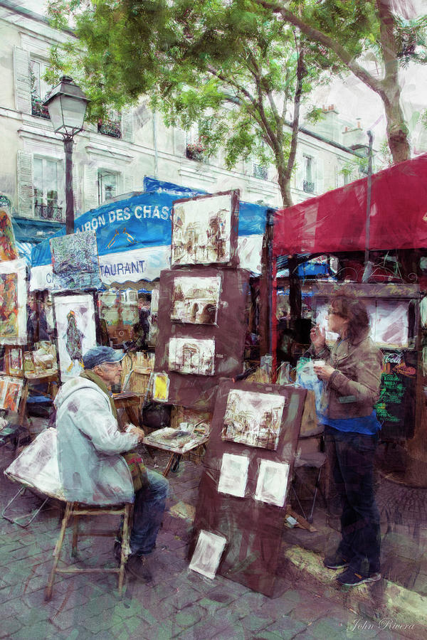 Artist in Montmartre by John Rivera
