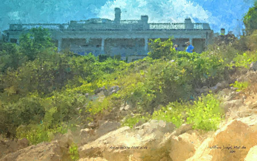 Artist on the Newport Cliff Walk by Bill McEntee