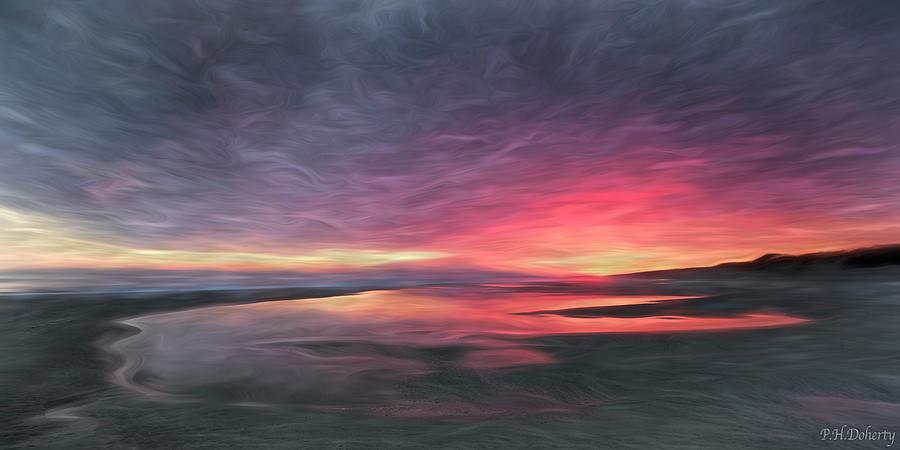 Artistic Digital Art - Artistic Tidal Pools by Phill Doherty
