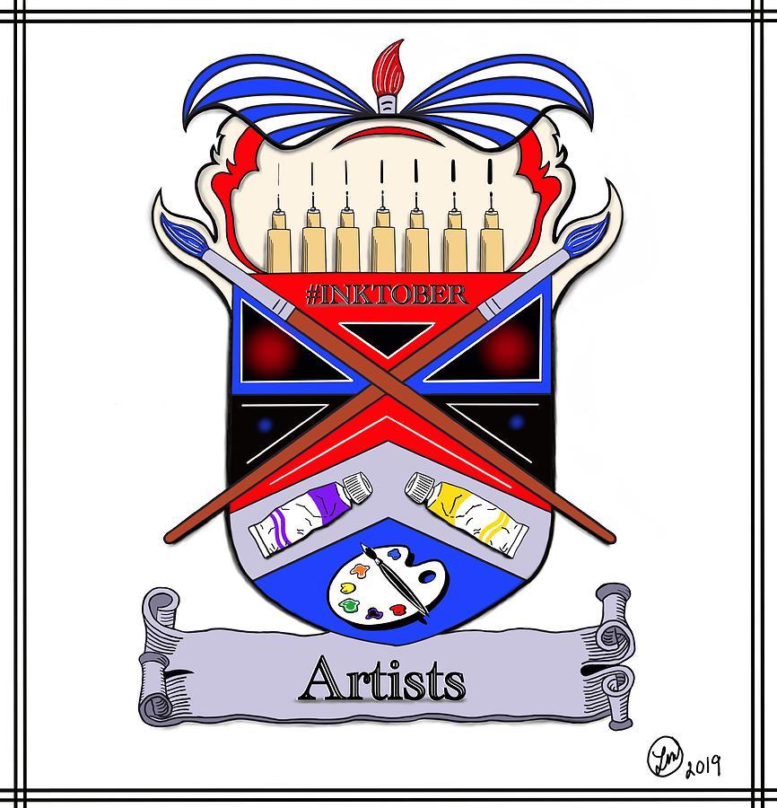 Artists Coat of Arms by Liz Mackney