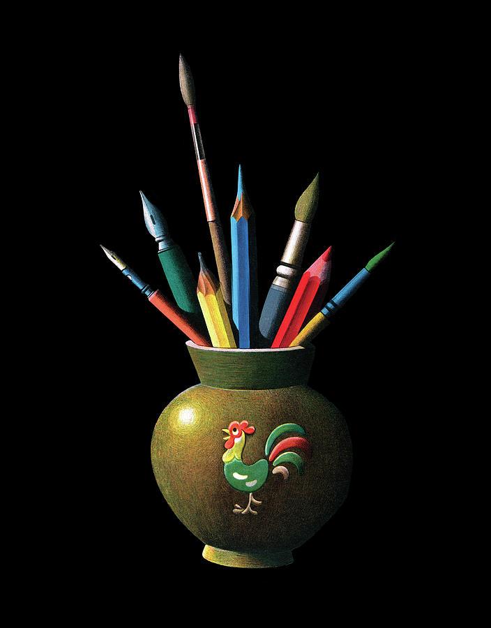 Variation Digital Art - Artists Tools by Graphicaartis