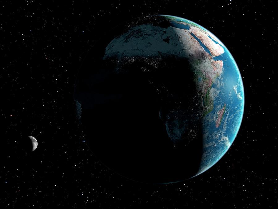 Artwork Of Africa Seen From Space Digital Art by Mark Garlick