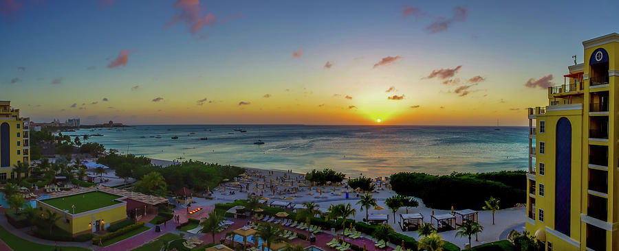 Aruban Sunset Panoramic by Scott McGuire