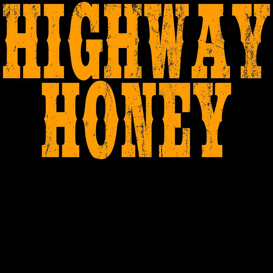 Bumblebee Mixed Media - As Sweet As A Highway Honey A Perfect Tshirt For You Highway Honey Bee Honeycomb Sweetener by Roland Andres