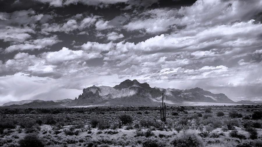 As The Clouds Float On By The Supes In Black And White  by Saija Lehtonen