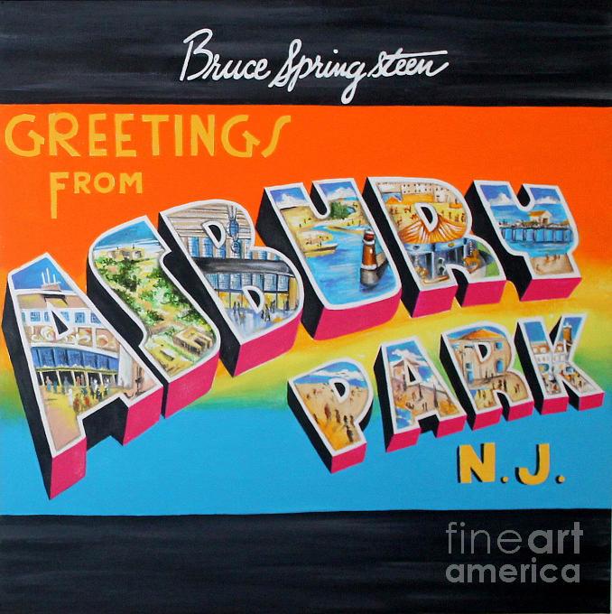 Asbury Park Painting - Asbury Park Bruce Springsteen by Amy Belonio