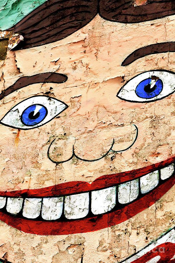 Asbury Park Photograph - Asbury Park Tillie Smile Mural by John Rizzuto