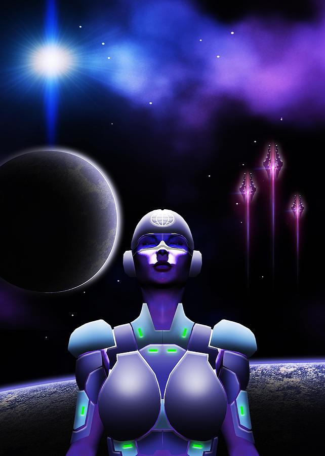 Space Digital Art - Ascension by Visions Beyond