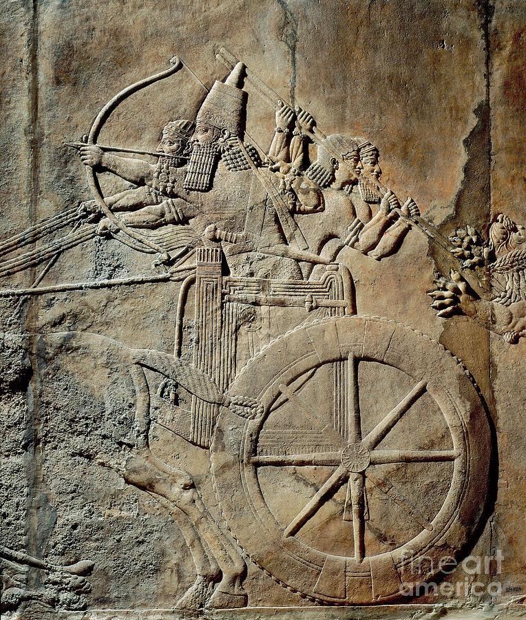 Lion Painting - Ashurbanipal by Mesopotamian