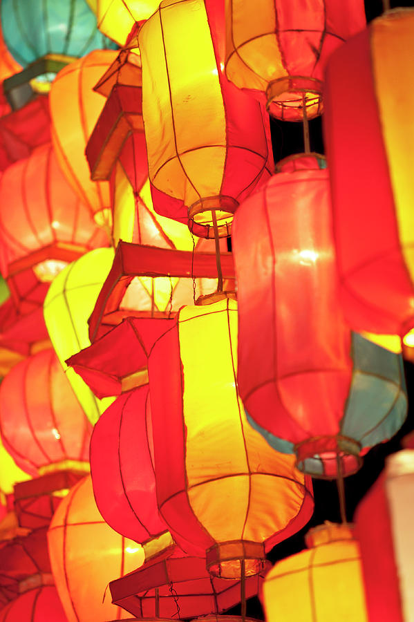Asian Lanterns Photograph by Oneclearvision