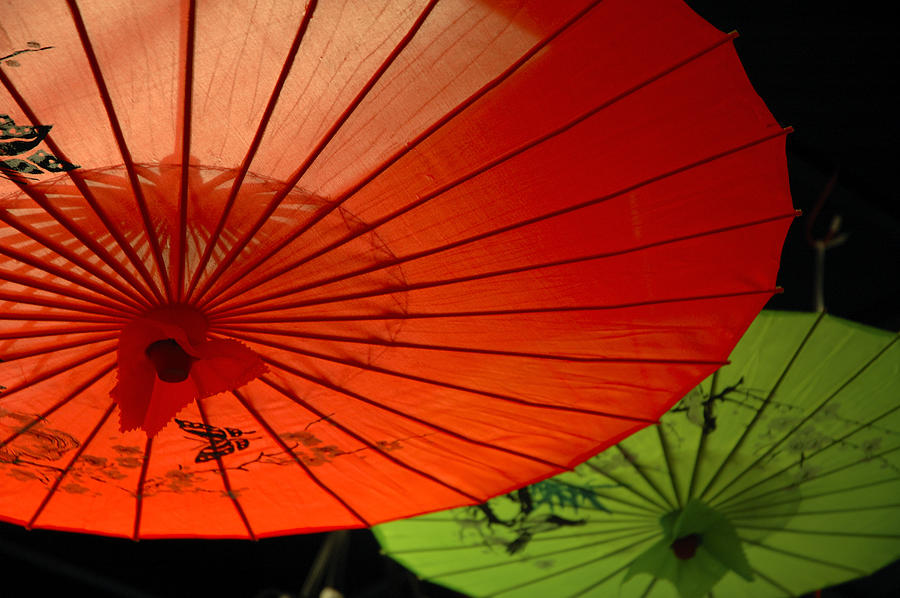 Asian Parasols Photograph by Imagesbytrista