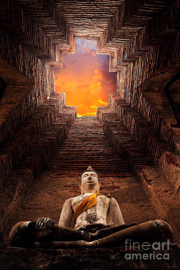 Civilization Photograph - Asian Religious Architecture. Ancient by Santiphotoss