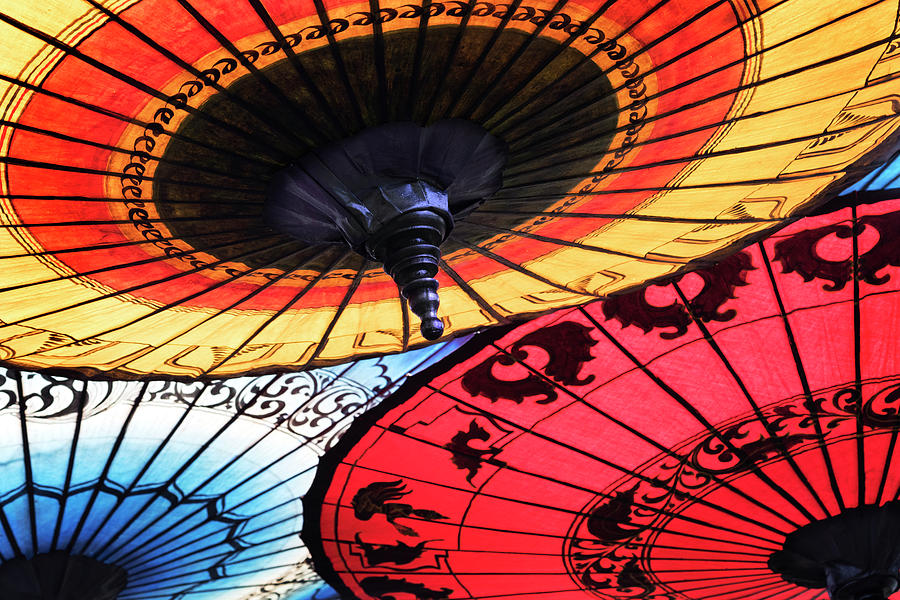 Asian Umbrellas by Patty Colabuono