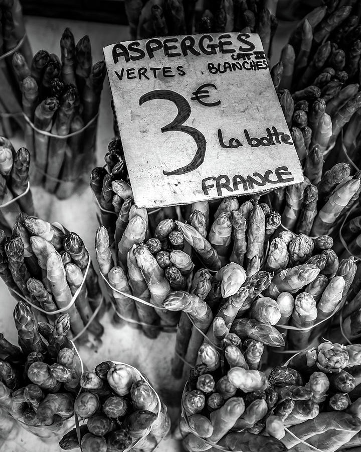 Asparagus At The French Market by Georgia Fowler