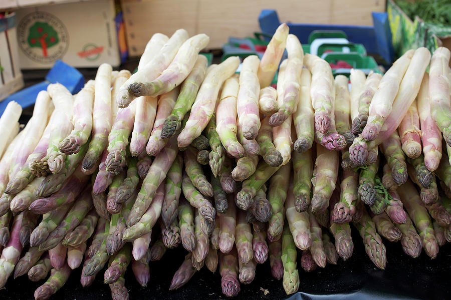 Asparagus For Sale In A Market In Photograph by Owen Franken
