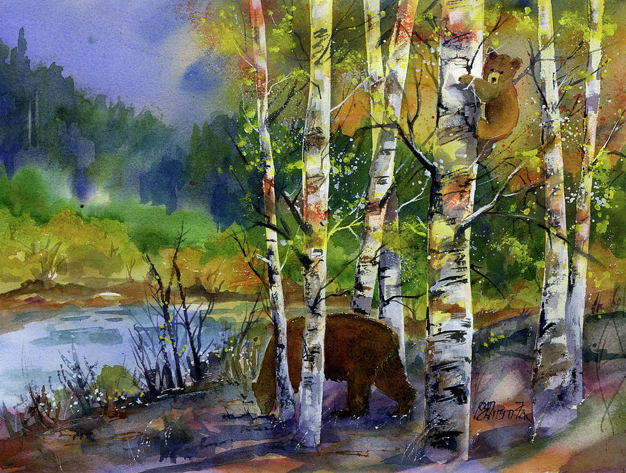 Aspen Bears #2 by Joan Chlarson