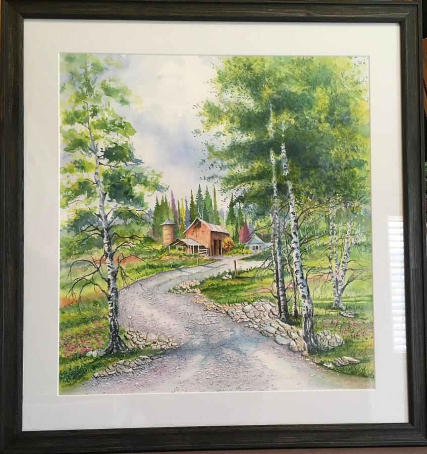 Aspens Trees and Farm by Richard Benson