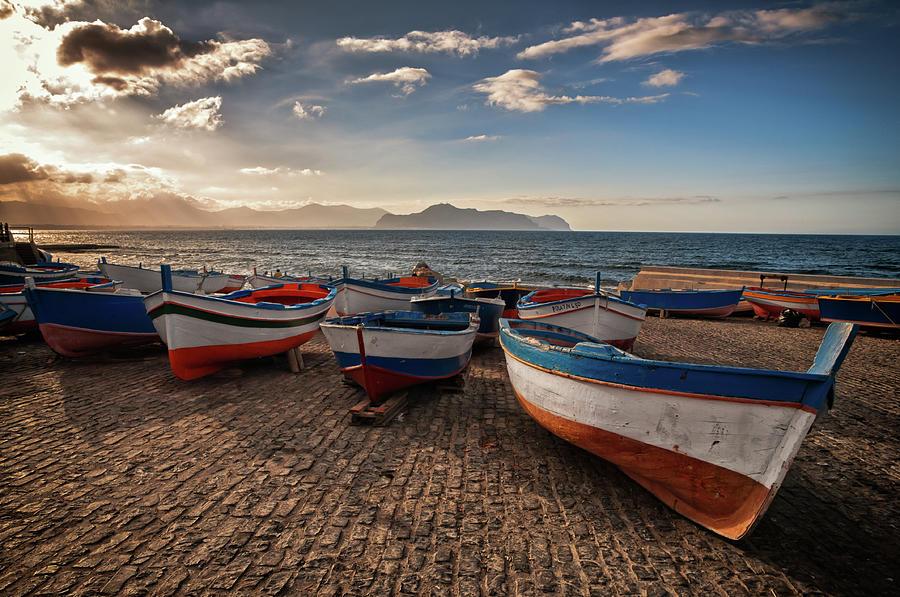 Aspra Boatyard Photograph by Fabio Montalto