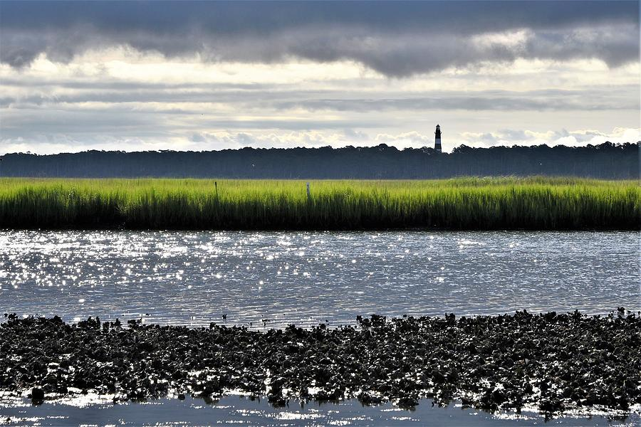 Assateaugue Lighthouse From Chincoteague by Kim Bemis