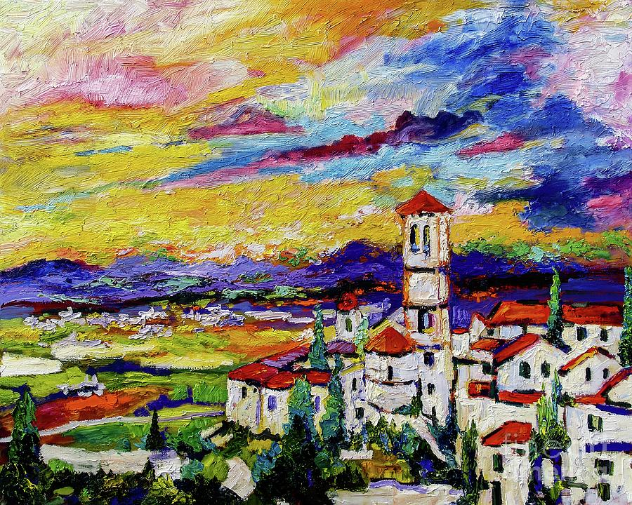 Assisi Italy Umbria Painting by Ginette Callaway