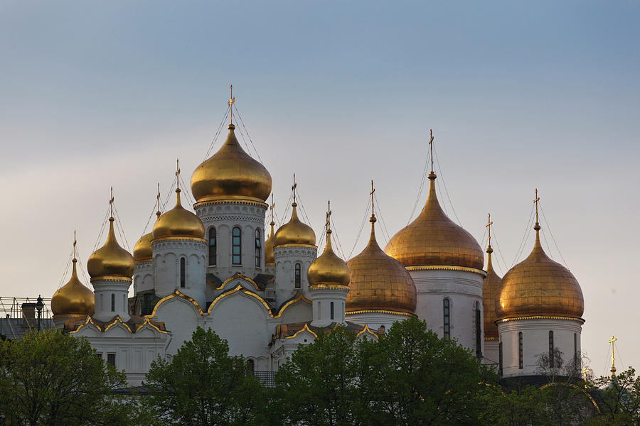 Assumption Cathedral,  Moscow Photograph by Walter Bibikow