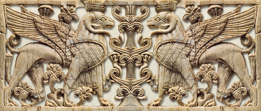 Assyrian Ram Headed Sphinx - Double Version                             by Weston Westmoreland