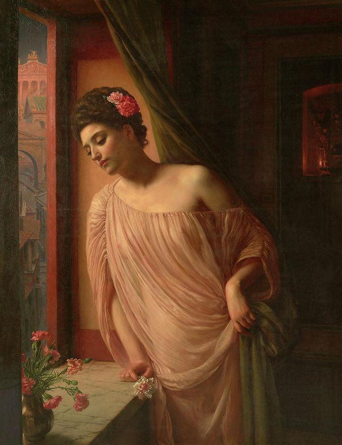 Sir Edward Poynter Painting - Asterie, 1904 by Edward Poynter