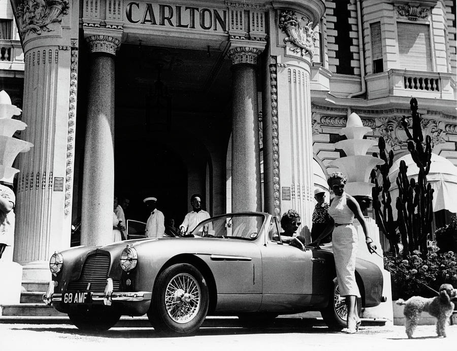 Aston Martin Db2-4 Outside The Hotel Photograph by Heritage Images
