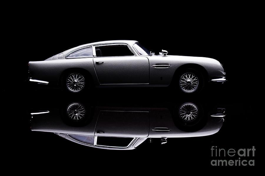 Aston Martin Db5 Model Low Key Side View Photograph by Simonbradfield