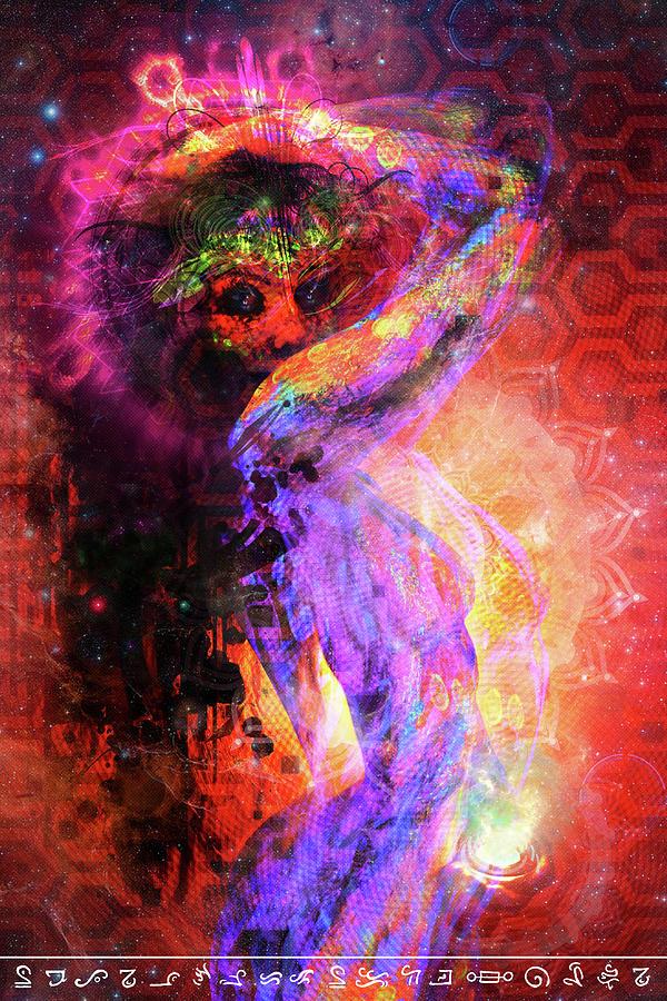 Bodypaint Painting - Astral Goddess 2 by Matt Deifer