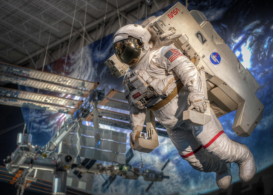 Astronaut and MMU, Space Center Houston by Dave Wilson