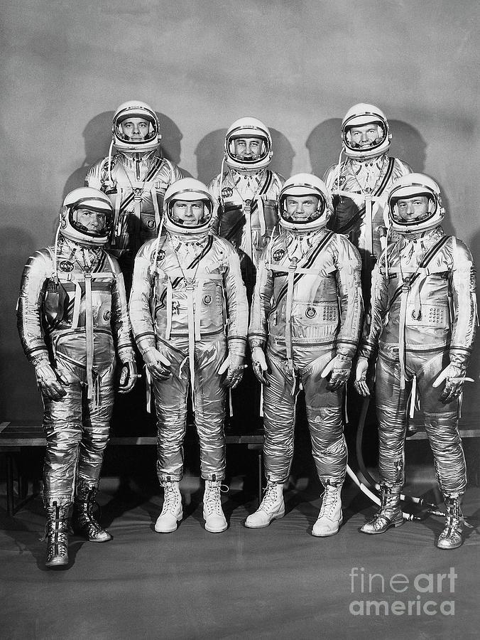 Astronaut Members Of Project Mercury Photograph by Bettmann