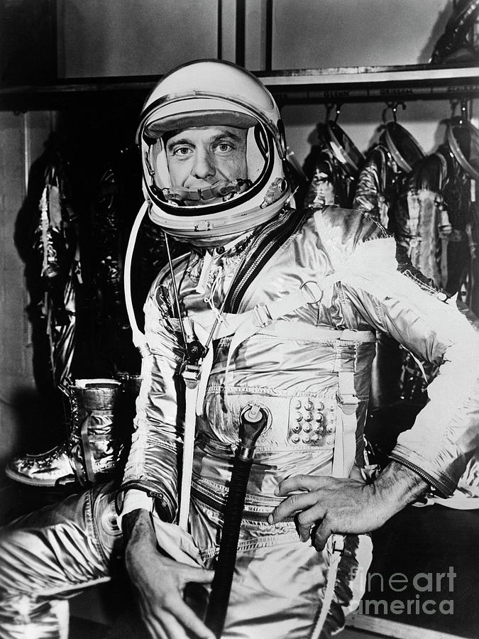 Astronaut Shepard In Space Suit Photograph by Bettmann