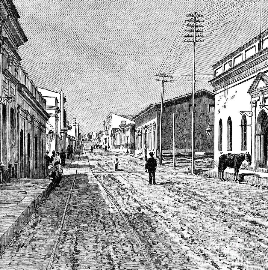Asuncion, Paraguay, 1895 Drawing by Print Collector