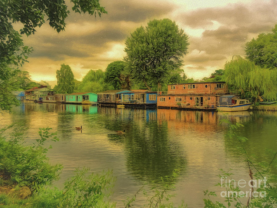 Molesey Photograph - At Home On The River by Leigh Kemp