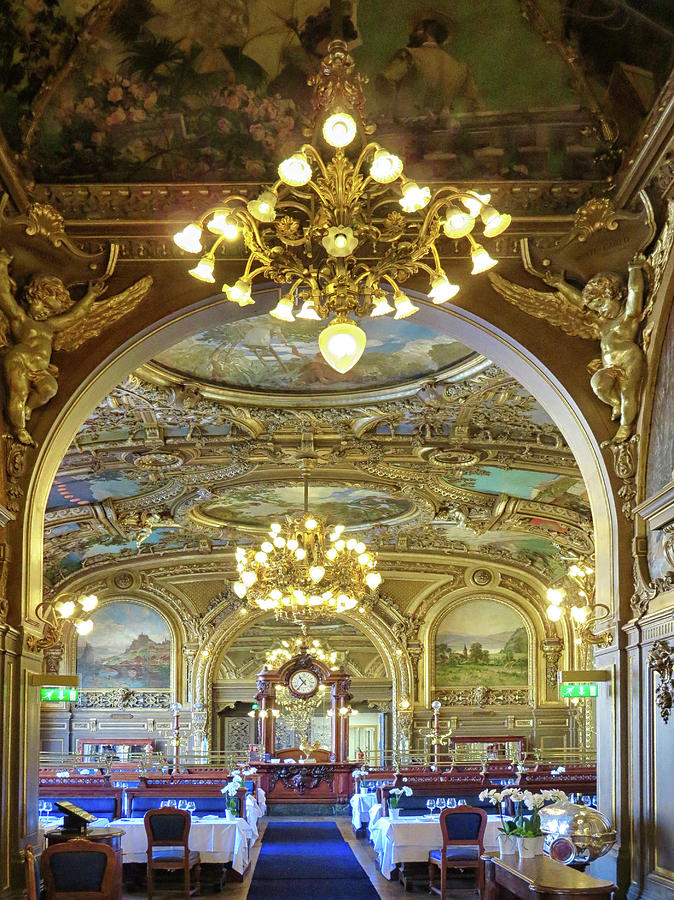 Le Train Bleu Photograph - At Le Train Bleu by Dave Mills