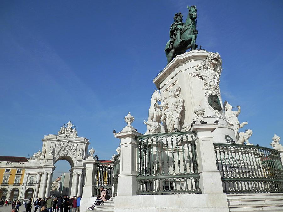 At Praca do Comercio, Lisbon by Pema Hou