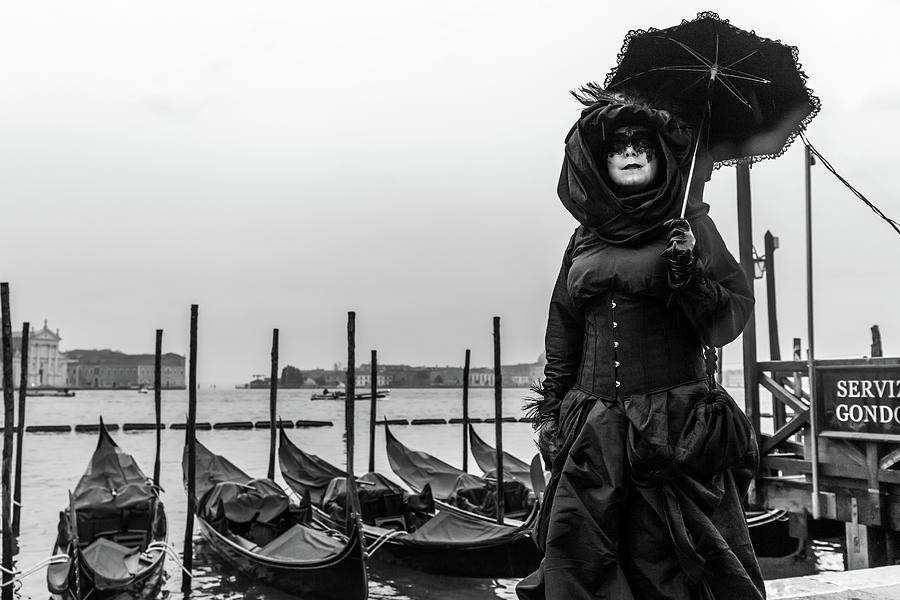 Venice Photograph - At The Carnival - Venice by Georgia Fowler