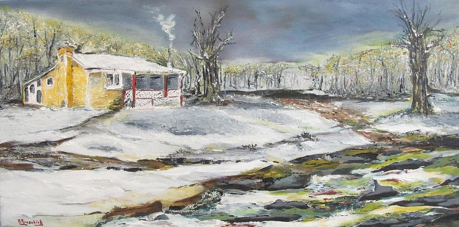 Landscape Painting - At The End Of The Trail by Rosita Pisarchick