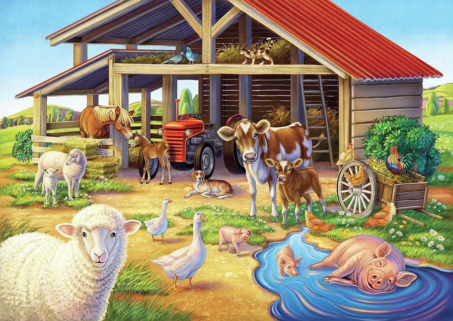At the Farm by Anne Wertheim