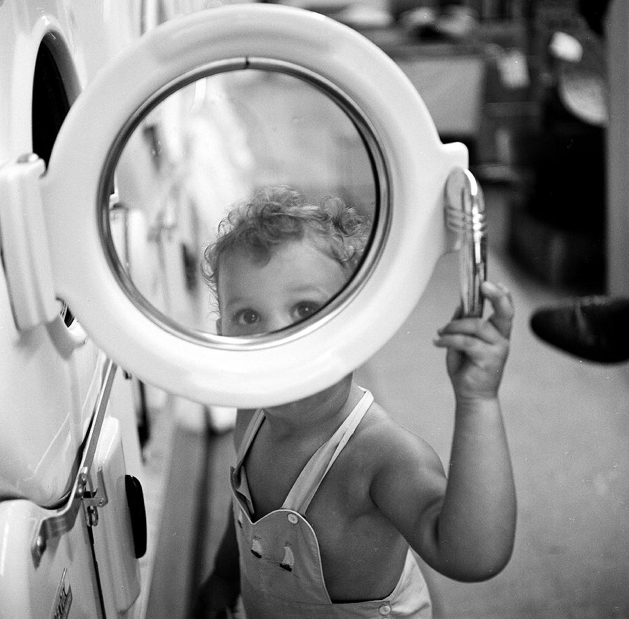 At The Laundromat Photograph by Rae Russel