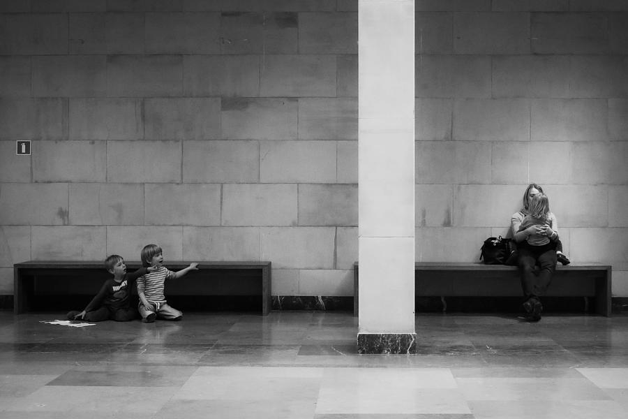 Street Photograph - At The Museum by Adam Sandurski